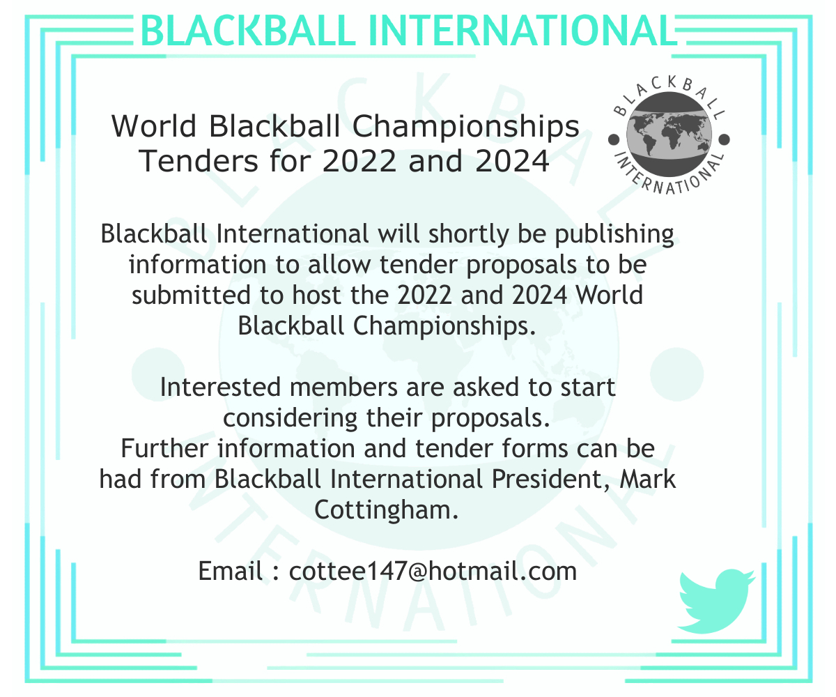 World Blackball Championships 2022 2024 tenders bids