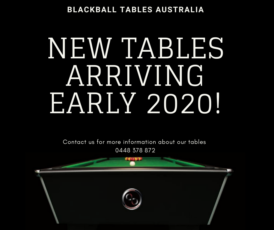 Blackball Tables Australia orders